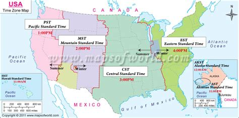 usa time zone with map usa state time zone map