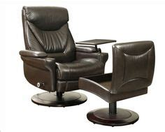 Barcalounger Lauren Ii Leather Recliner In Abbott Saddle Barcalounger Storage Ottoman