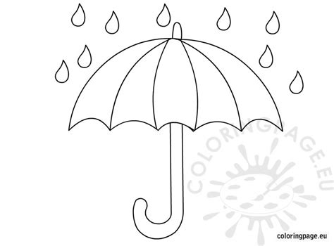 umbrella coloring pages printable free coloring pages of umbrella rain