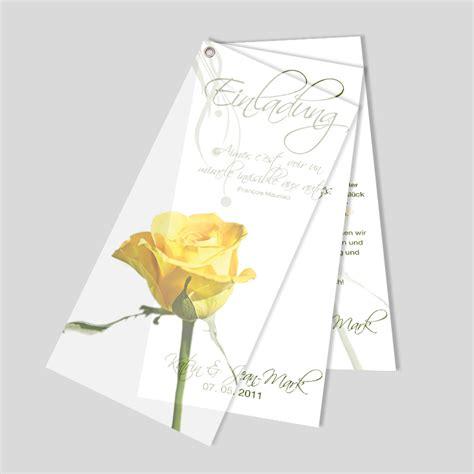 Einladungskarten Hochzeit Gelb by Einladungskarte Hochzeit Gelber Rosentraum