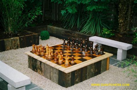 outdoor checkers chess sets are great outdoor