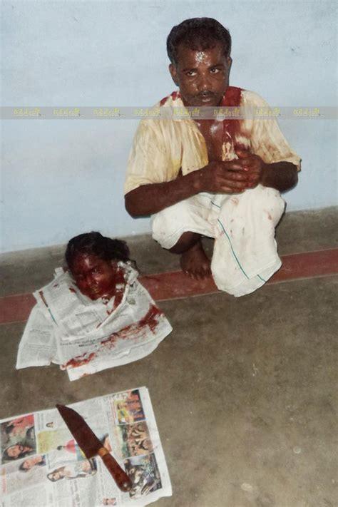 kuku kata gambar suami sembelih kepala isteri curang di india