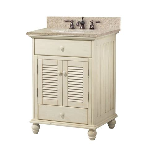 White Granite Vanity Top by Foremost Cottage 25 In W X 22 In D Bath Vanity In