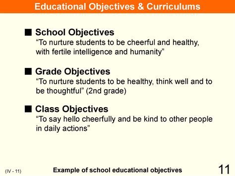 statement of educational objectives statement of educational objectives 28 images table of