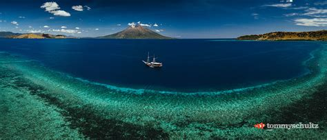 epic dive boats flores from above aerial panoramas of an epic liveaboard