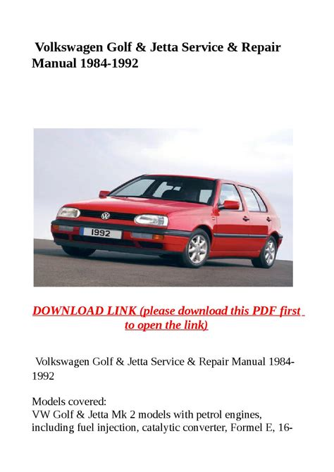 small engine repair manuals free download 1985 volkswagen passat free book repair manuals volkswagen golf jetta service repair manual 1984 1992 by abcdeefr issuu