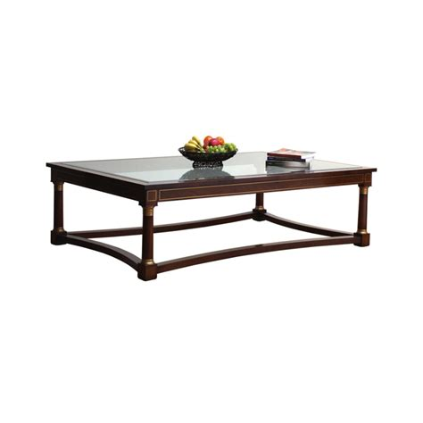 Mahogany And Glass Coffee Table Mahogany Coffee Table With Glass Top Titchmarsh Goodwin