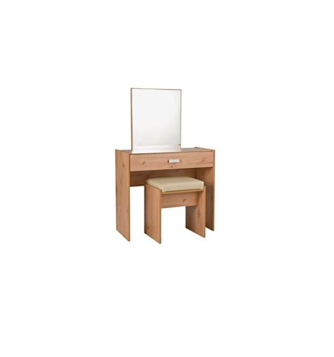 Dressing Table Stool And Mirror by Capella 1 Drawer Dressing Table Stool Mirror Pine Effect 2640877