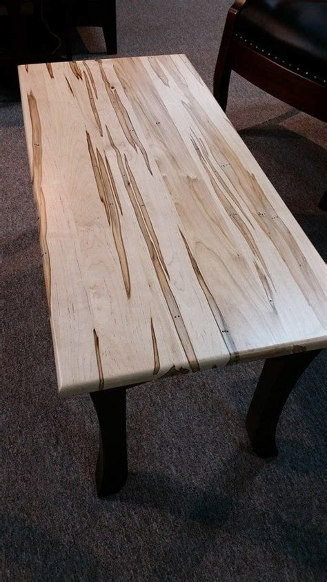 nautrally stained wormy maple bench maple furniture