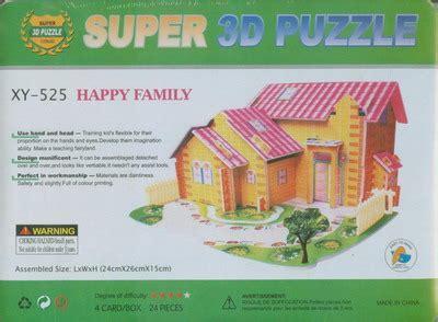 3 D Puzlle Happy House 3d puzzles 3d puzzle country house pink color