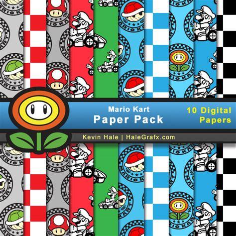 printable paper mario free mario kart digital paper pack