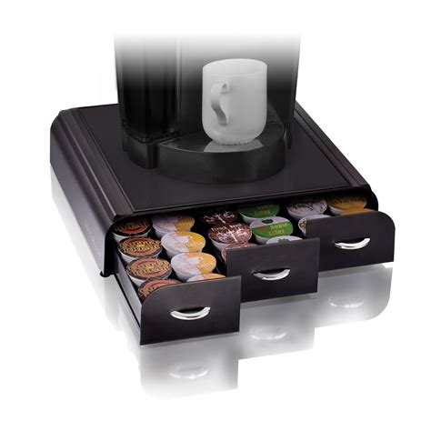 Sticky Top Bar Coffee Pod Holder 36 K Cup Storage Rack Cups Drawer