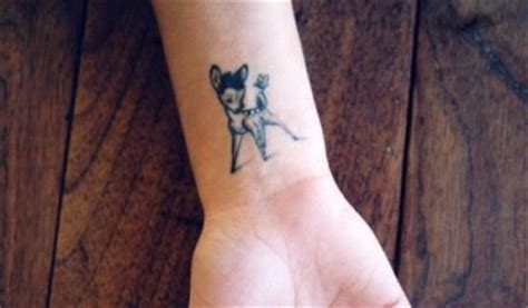 bambi wrist tattoo turn that frown inked