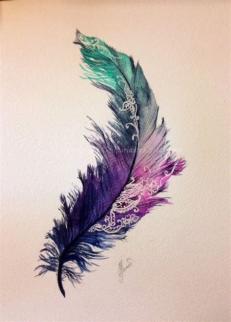 water color feather watercolor feather design thoughts