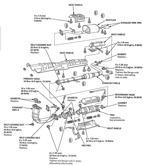 1997 Honda Accord Exhaust System Diagram Pipe Between The Muffler And Tailpipe Called In A Honda