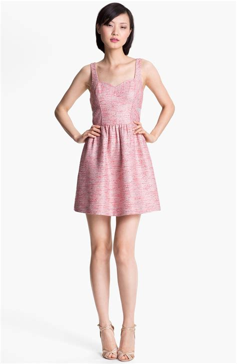 Dress In mcginn tweed dress in pink lyst