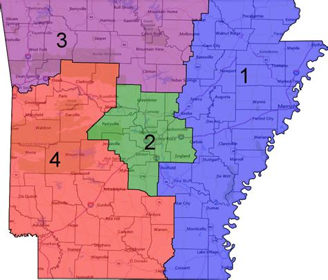 map us house districts arkansas congressional district map see us house