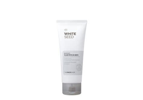 The Shop White Seed Exfoaliating Cleanser the shop white seed exfoliating foam cleanser 150ml hermo shop malaysia
