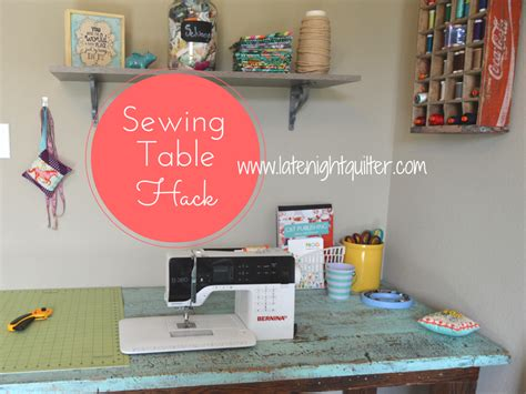 how to a drop in sewing table diy drop in sewing table hack the quilter s planner