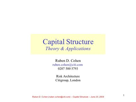 Mba Ppt On Capital Structure by Capital Structure