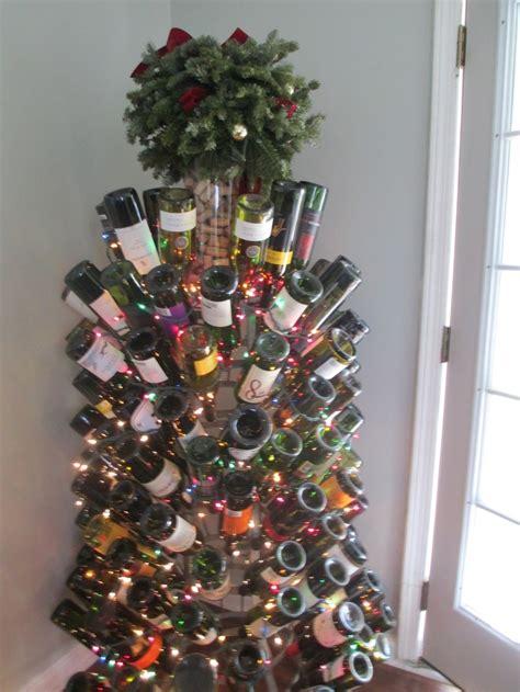 stunning wine bottle christmas tree christmas ideas