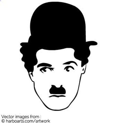 download charlie chaplin face vector graphic
