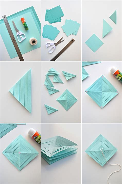 How To Make Paper Garlands - springy paper garland diy