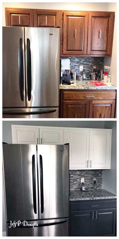 Kitchen Cabinet Makeover with General Finishes Snow White