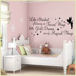 Teenage Wall Stickers Uk Wall Art Stickers Quotes Stardust Glistening Fairy Girls