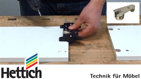 drilling out a lock on a file cabinet cabinet assembly with vb fittings and drilljig vb from