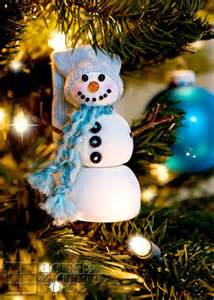 diy snowman christmas tree ornament shelterness