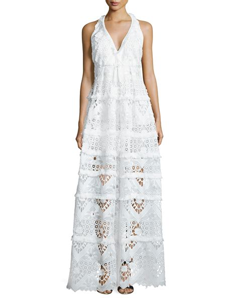 Zaina Dress Dress Gamis Maxy Dress Longdress nubia crochet halter maxi dress in white lyst