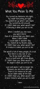 u mean the world to me poem cute love quotes for her