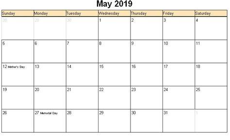 Calendar 2019 May Image Gallery May 2019 Calendar
