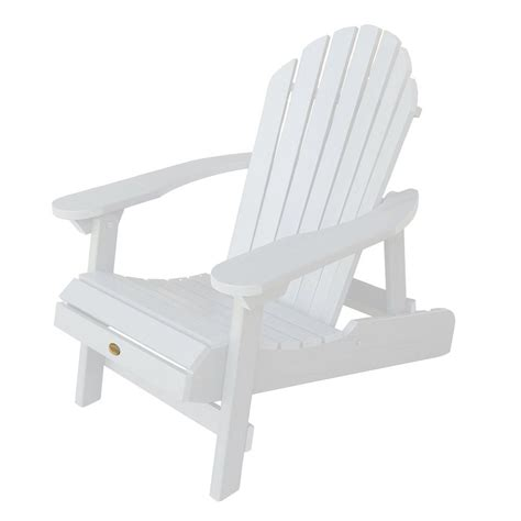 White Plastic Patio Chairs Shop Highwood Usa Hamilton White Plastic Folding Patio Adirondack Chair At Lowes