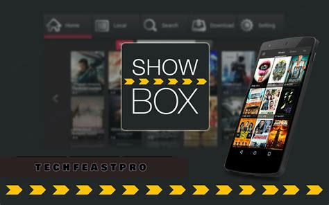 show box for android showbox for android showbox for pc techfeastpro