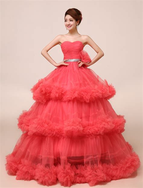 Melon Dress organza strapless water melon quinceanera dresses with