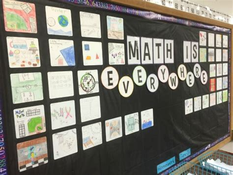 Math Bulletin Boards for Upper Elementary   Teaching to