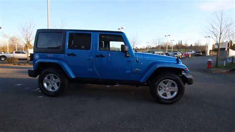 Oscar Mike Jeep Wrangler Unlimited 2014 Jeep Wrangler Unlimited Oscar Mike Blue El165220