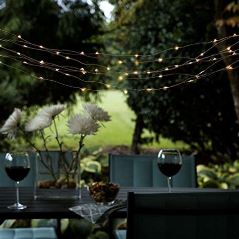 Solar Powered Patio Lights String Outdoor Solar Powered String Lights Easydecor Copper Wire 8mode 100 Led 33ft Warm White
