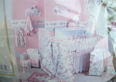 New Lambs Ivy Vintage Baby 6 Piece Crib Bedding Set Girl Vintage Baby Bedding Sets