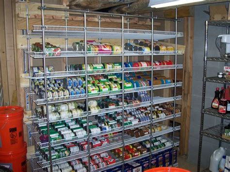 Food Pantry Rack Storage Solutions On Stainless Steel Pipe Rack Frame