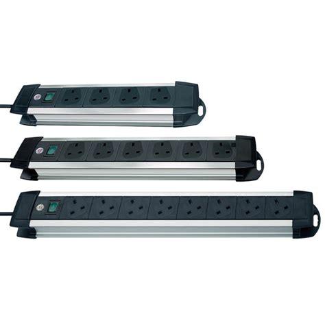 Brennenstuhl Premium Line Extension Socket 4 Way 16 A 18m brennenstuhl premium alu line 4 6 and 8 way extension sockets rapid