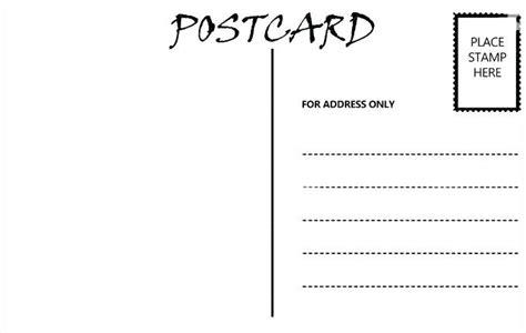 free blank postcard template for word blank postcard template word free ramauto co printable