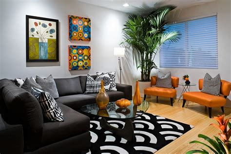 black and orange living room ideas orange and black interiors living rooms bedrooms and kitchens