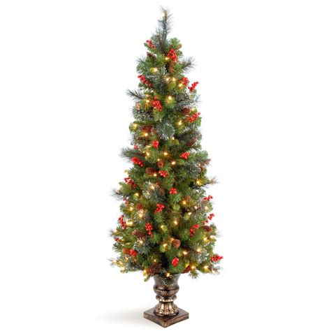 pound landscape christmas trees crab pot trees 5 ft indoor outdoor pre lit incandescent artificial tree with green