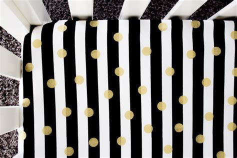Black And Gold Crib Bedding Gold Foil Polka Dot Fitted Crib Sheet Baby Bedding Crib