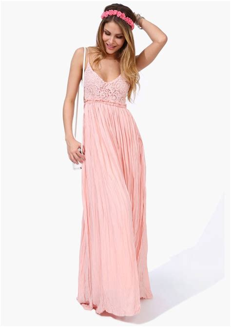 Boho Pink pink boho maxi dress accessories fashion