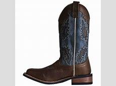 Laredo Isla 5666 Womens Tan Distressed/Blue Denim Western ... Laredo Boots Women 5730