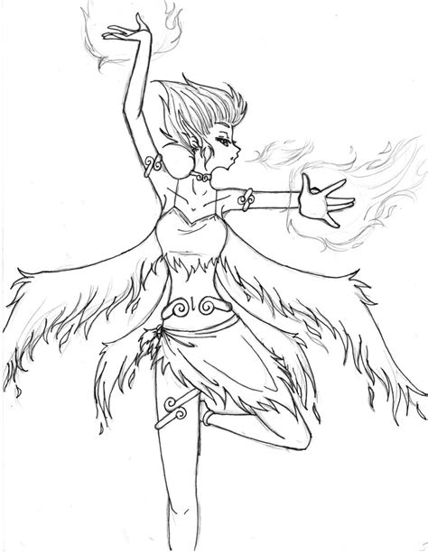 this bed is on fire with passion and love fire fairy lineart by phoenixpassion on deviantart